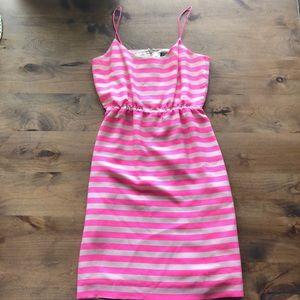 J. CREW PINK AND CREAM STRIPED DRESS!